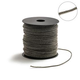 Проволока для плетения в обмотке Люрекс, d=2мм, L=100м, цвет черно-золотой