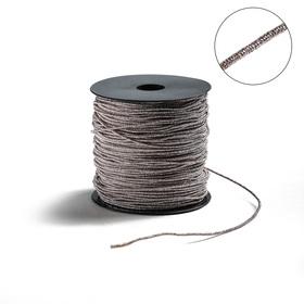 Проволока для плетения в обмотке Люрекс, d=2мм, L=100м, цвет светло-розовое золото