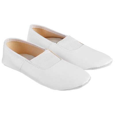 Gym shoes real leather, color white, R. 31 (the length of the insole 20.2 cm)