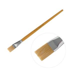 Кисть «Сонет» №12, щетина, плоская, длинная ручка, d=23 мм