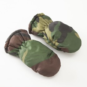 Mittens winter MINAKU, size 14 (3-4 years), camouflage color