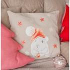 Интерьерные подушки «Новогодний мышонок», набор для шитья 21 х 29,7 см - фото 691778