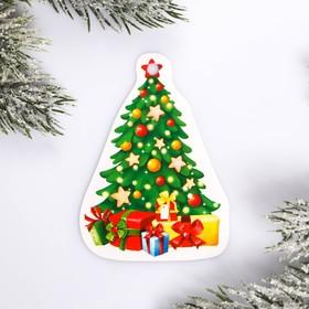 Шильдик на подарок Новый год «Елка», 6 × 8 см