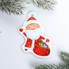 Шильдик на подарок Новый год «Дед мороз», 6,5 ×8,2  см