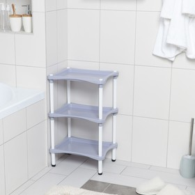 Bookcase with shelves 3-section Krita, color lilac fog