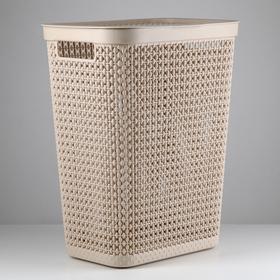 Корзина универсальная «Пирула», 35 л, 38,5×28,5×48 см, цвет латте