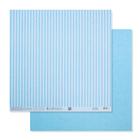 Бумага для скрапбукинга «Голубая базовая полоска», 30.5 × 32 см, 180 гм