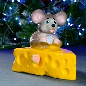 "Копилка ""Мышка в сыре"" коричневая 19х15х20см"