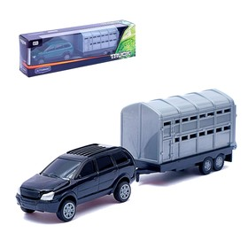 Metal car European Offroad Traller, scale 1:32, MIX colors