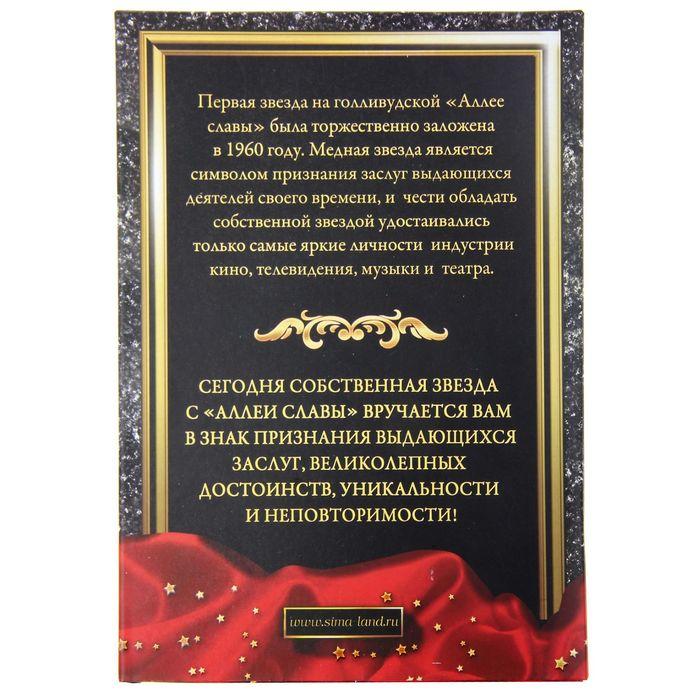 """Диплом звезда """"Лучший из Лучших"""" + маркер"""