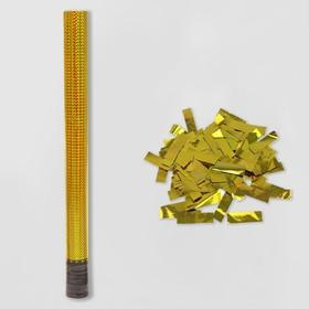 Пневмохлопушка «Голография», 60 см, золотое конфетти в Донецке