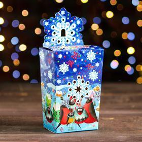 "A cardboard box ""snowflake bullfinch"", 8 x 5 x 14 cm"