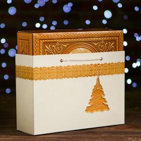"A cardboard box ""Wooden box"", 27 x 8.5 x 19 cm"
