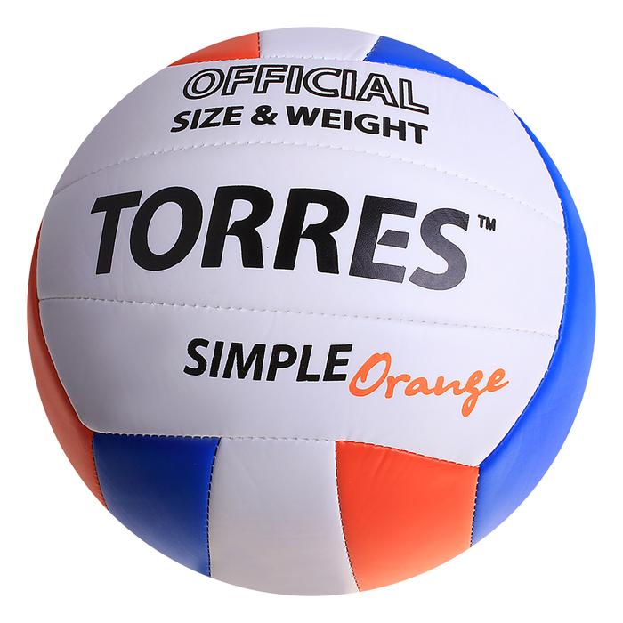 Мяч волейбольный Torres Simple Orange, V30125, размер 5