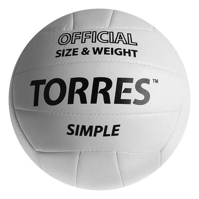 Мяч волейбольный Torres Simple, V30105, размер 5