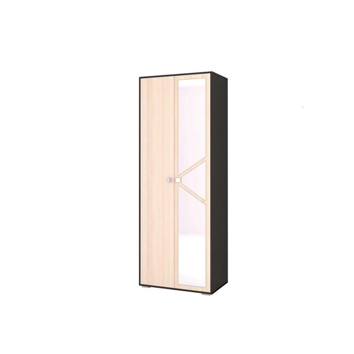 Шкаф 2-х створчатый бельевой Ненси-2 800x500x2200 венге/дуб молочный