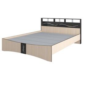 Кровать Эрика 1470x2170x900венге/дуб молочный