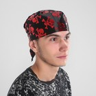 Black bandana with red skulls, size 50*50cm