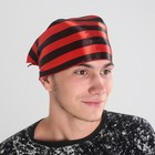 Bandana in black with red stripes p-p 57*75*57cm