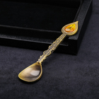 "Spoon ""Surgut - the monument to the Founders"" (drop of oil), 11 x 2.5 cm"
