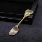 """Spoon """"Perm Permyak-the salty ears"""" (arms), 11 x 2.5 cm"""