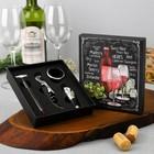 "Set for wine in a cardboard box ""Merlot"", 14 x 16 cm"