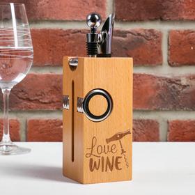 {{photo.Alt || photo.Description || 'Набор для вина дерево Love wine, 23 х 7 см'}}