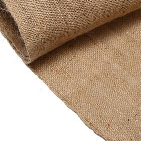 Джут натуральный, 1,06 × 8 м, плотность 315 г/м², плетение 46/54 Ош
