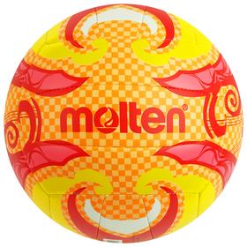 Мяч волейбольный пляжный MOLTEN V5B1502-О, размер 5, PVC, жёлтый/красный