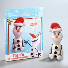 Новогодняя игрушка из полимерной глины «Олаф», Холодное сердце