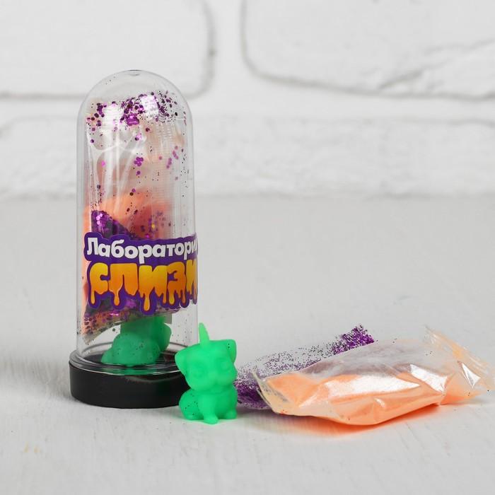 Набор «Слим с блёстками и игрушкой своими руками», цвет перламутровый оранжевый - фото 411400