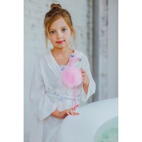 Мочалка детская Доляна «Фламинго»