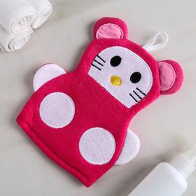 "Washcloth mitten baby ""Kitty"""