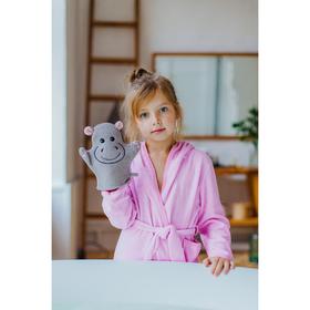 Мочалка-варежка детская Доляна «Бегемотик»
