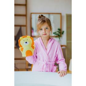 Мочалка-варежка детская Доляна «Львёнок»