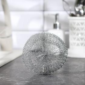Губка для мытья посуды, металлическая, 20 гр.