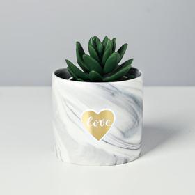 Керамический горшок «Радость» 8 х 7,5 см
