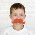 Mustache turned up on the band, R-R 14 *2cm, color.red