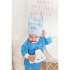 Шапочка для девочки, цвет голубой, размер 47 (1 год) - фото 105571035