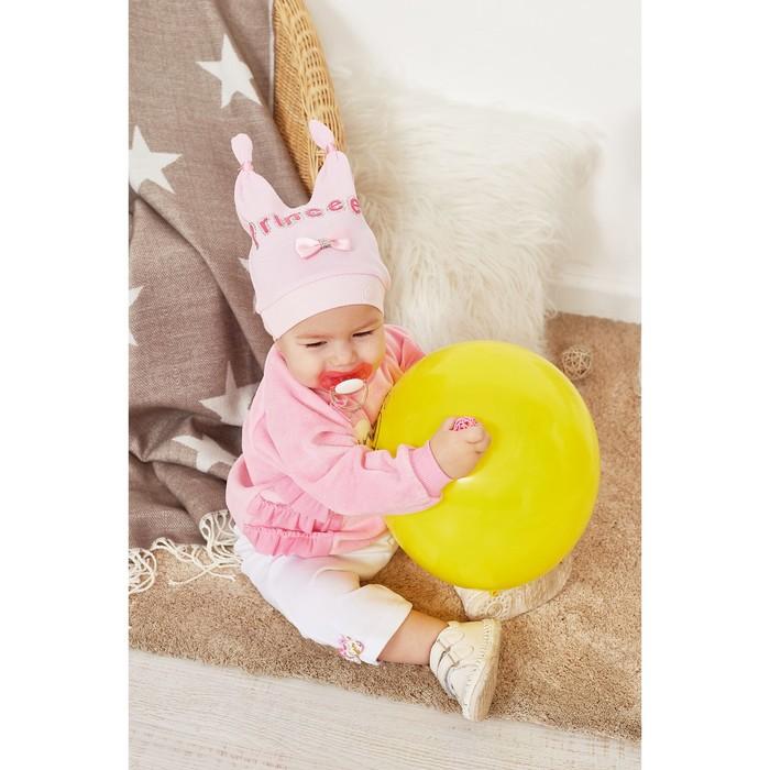 Шапочка для девочки, цвет розовый, размер 47 (1 год)