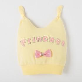 Шапочка для девочки, цвет желтый/розовый, размер 47 (1 год)