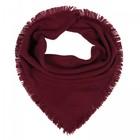 Платок женский шерстяной, цвет бордовый, размер 75х75 см