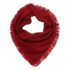 Платок женский шерстяной, цвет красный, размер 75х75 см