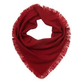 Платок женский шерстяной, цвет красный, размер 75х75 см в Донецке