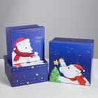 Набор подарочных коробок 3 в 1 «Полярная ночь», 18 х 18 х 10‒22 х 22 х 12 см