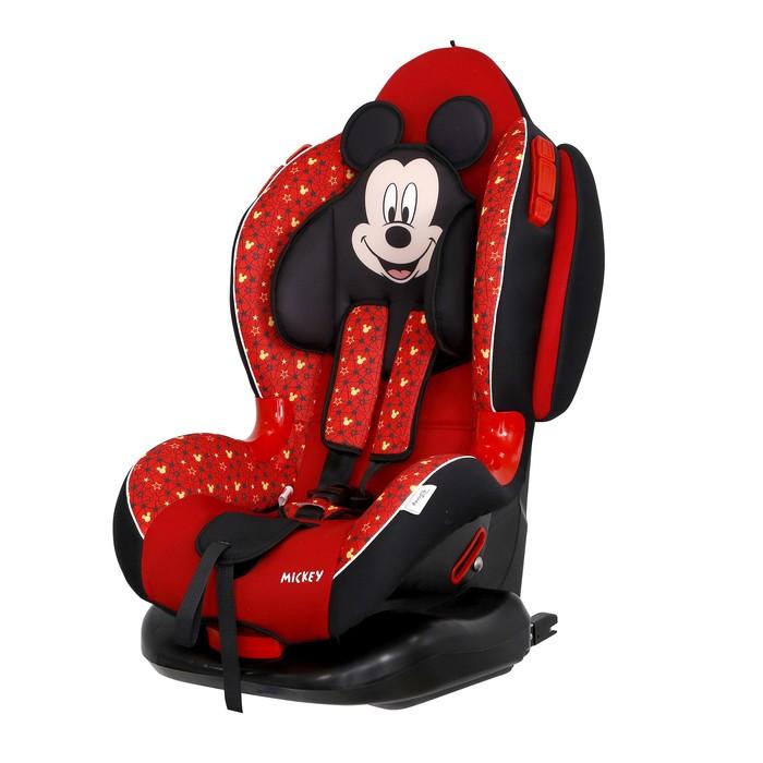 Автокресло Siger Disney Кокон Isofix «Микки Маус», группа 1/2 (9-25 кг) звезды, цвет красный   4620
