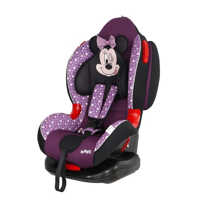 Автокресло Siger Disney Кокон Isofix «Минни Маус», группа 1/2 (9-25 кг) звезды, цвет фиолетовый   46