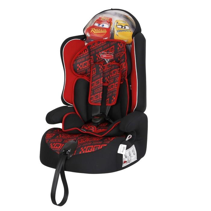 Автокресло Siger Disney Драйв «Тачки», группа 1/2/3 (9-36 кг) гонка, цвет красный