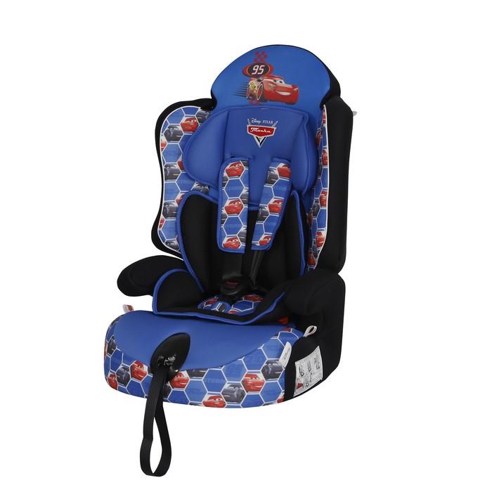 Автокресло Siger Disney Драйв «Тачки», группа 1/2/3 (9-36 кг) ячейки, цвет синий