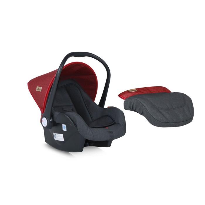 Автолюлька Lorelli Lifesaver, группа 0+ (0-13 кг), цвет красно-чёрный
